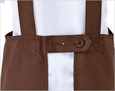 03197 BONUNI(ボストン商会) 胸当てH型エプロン(男女兼用) キャンバス ボタンでサイズ調整可能