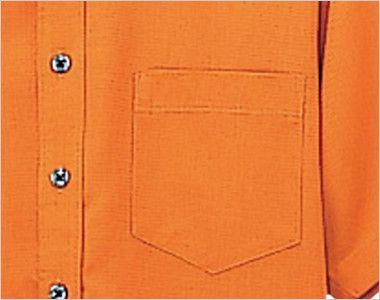 08932 BONUNI(ボストン商会) ボタンダウンシャツ/半袖(男女兼用)ワッフル ポケット