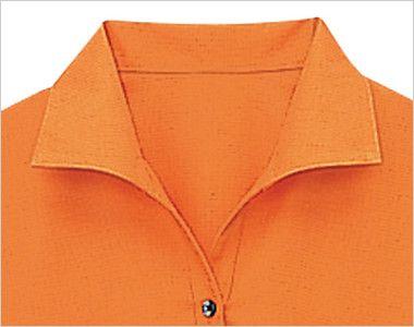 08935 BONUNI(ボストン商会) イタリアンカラーシャツ/七分袖(女性用)ワッフル イタリアンカラーの襟元