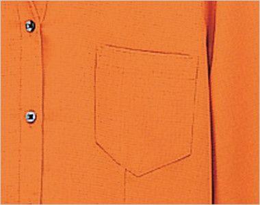 08935 BONUNI(ボストン商会) イタリアンカラーシャツ/七分袖(女性用)ワッフル ポケット