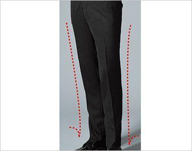 12110 BONUNI(ボストン商会) ノータックスラックス(男性用) 渡り幅から裾幅にかけて細身の仕上がり