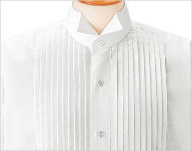 14110 BONUNI(ボストン商会) ピンタックシャツ/長袖(男性用)(ループ付) ウィングカラーとピンタック仕様