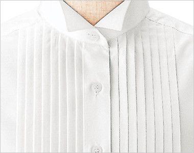 14210 BONUNI(ボストン商会) ピンタックシャツ/長袖(女性用)(ループ付) ウィングカラーとピンタック仕様