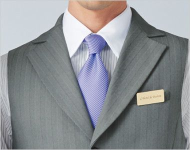 15116 BONUNI(ボストン商会) ベスト(男性用) グレースヘリンボーン ノッチドラペルの定番の襟元