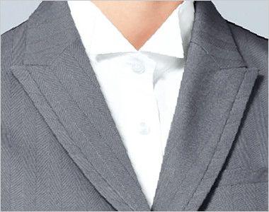 15215 BONUNI(ボストン商会) ベスト(女性用) グレースヘリンボーン ピークドラペルの尖った襟元