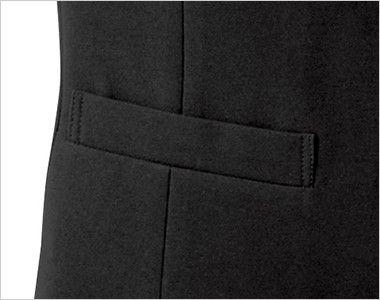 15302 BONUNI(ボストン商会) フォーマル ベスト(男女兼用) 丸襟ノーカラー ポケット