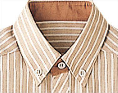 23303 BONUNI(ボストン商会) ボタンダウンシャツ/半袖(男女兼用) ストライプ ボタンダウン