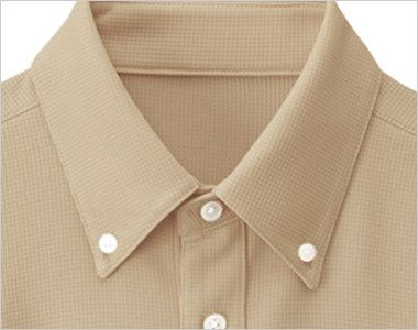 23305 BONUNI(ボストン商会) ボタンダウンニットシャツ/半袖(男女兼用) ボタンダウンなデザイン