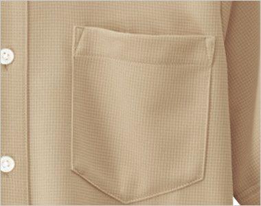 23305 BONUNI(ボストン商会) ボタンダウンニットシャツ/半袖(男女兼用) ポケット