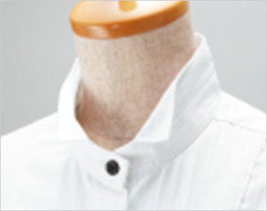 24112 BONUNI(ボストン商会) 長袖シャツ(男性用) ドビーストライプ 2way襟のウィングカラー仕様
