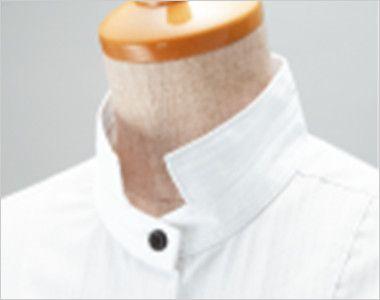 24112 BONUNI(ボストン商会) 長袖シャツ(男性用) ドビーストライプ 2way襟のスタンドカラー仕様