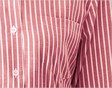 24211 BONUNI(ボストン商会) シャツ/七分袖(女性用) ストライプ ポケット