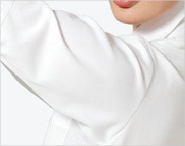 24218 BONUNI(ボストン商会) Tブラウス/五分袖(女性用) ストライプ 袖部分がニットで動きやすく機能的