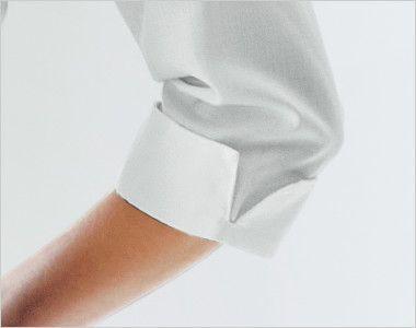 24223 BONUNI(ボストン商会) オックスシャツ/七分袖(女性用) スリット