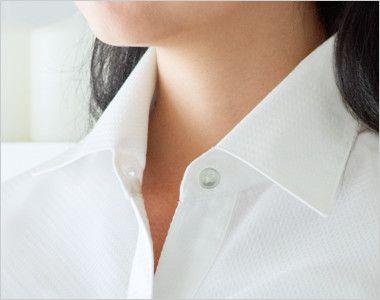 24228 BONUNI(ボストン商会) シャツ/七分袖(女性用) イタリアンカラーの襟元