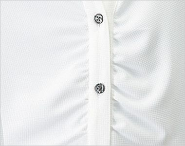 24229 BONUNI(ボストン商会) ウィングカラーニットシャツ/五分袖(女性用) バストギャザー仕立て