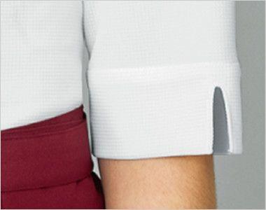 24229 BONUNI(ボストン商会) ウィングカラーニットシャツ/五分袖(女性用) スリット