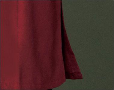 24231 BONUNI(ボストン商会) マオカラーシャツ/七分袖(女性用) スリット