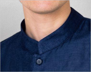 24307 BONUNI(ボストン商会) マオカラーシャツ/七分袖(男女兼用) マオカラー