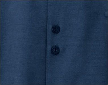 24307 BONUNI(ボストン商会) マオカラーシャツ/七分袖(男女兼用) フロントボタン部分