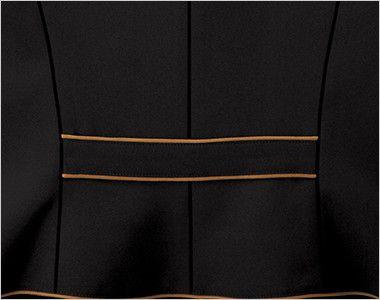 25202 BONUNI(ボストン商会) ベスト(女性用) 細身シルエット 腰高効果のある背中のポイント