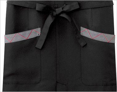 27204 BONUNI(ボストン商会) ベスト付エプロン(女性用) ポケット