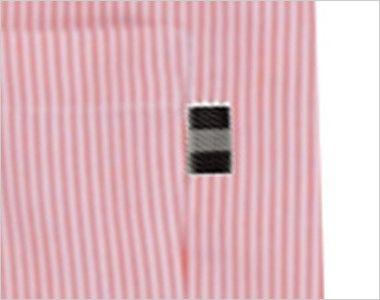 27320 BONUNI(ボストン商会) 胸当てエプロン(男女兼用) ストライプ ポケット横ポイント