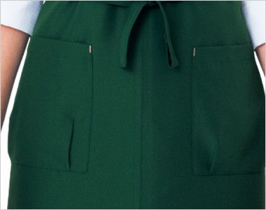 27328 BONUNI(ボストン商会) 胸当てカフェX型エプロン(男女兼用) ポケット