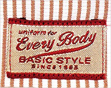 33302 BONUNI(ボストン商会) スタンドカラーシャツ/半袖(男女兼用)ストライプ ポイント