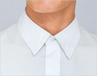 34107 BONUNI(ボストン商会) シャツ/長袖(男性用) 襟先がはねない隠しボタン付き