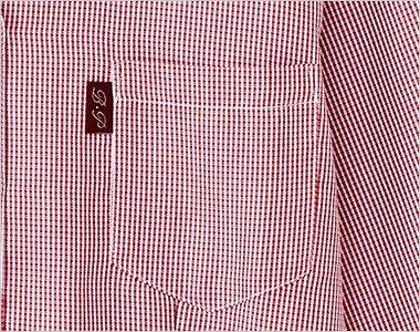 34202 BONUNI(ボストン商会) イタリアンカラーシャツ/七分袖(女性用) チェック ポケット