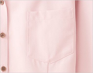 34208 BONUNI(ボストン商会) イタリアンカラーシャツ/七分袖(女性用) ポケット