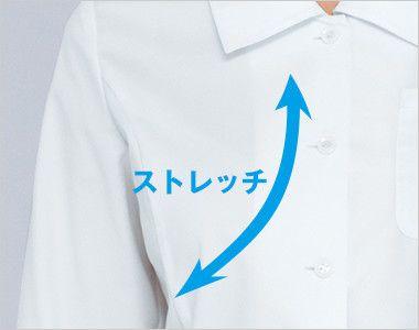 34213 BONUNI(ボストン商会) ブラウス/七分袖(女性用) ストレッチ素材