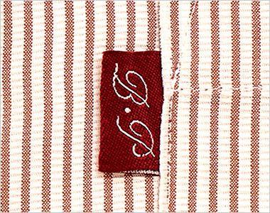 34301 BONUNI(ボストン商会) スタンドカラーシャツ/七分袖(男女兼用)ストライプ ポイント