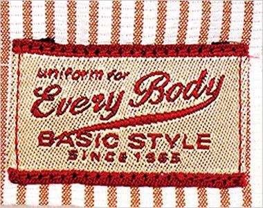 34301 BONUNI(ボストン商会) スタンドカラーシャツ/七分袖(男女兼用)ストライプ バックポイント