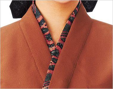 41301 BONUNI(ボストン商会) 作務衣上衣(男女兼用) ちりめん 専用の替襟(別売)でワンランクアップ