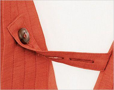 41305 BONUNI(ボストン商会) 作務衣 上衣(男女兼用) はだけ防止用のボタン付