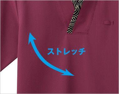 43308 BONUNI(ボストン商会) 和風ニットカットソー(男女兼用) 波総柄 ストレッチ素材