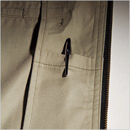 バートル 1101 [春夏用]制電T/Cライトチノジャケット(男女兼用)  内ペンポケット