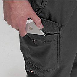 バートル 1202 ソフトツイルカーゴパンツ 裾上げNG(男女兼用)  Phone収納ポケット