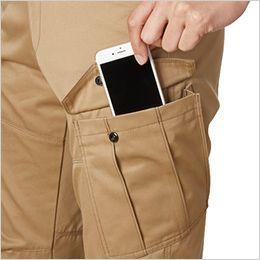 バートル 1702 [秋冬用]T/Cソフトツイルカーゴパンツ(JIS T8118適合)(男女兼用) Phone収納ポケット