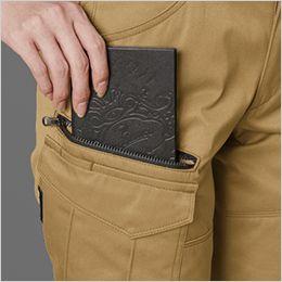 バートル 1709 [秋冬用]T/Cソフトツイルレディースカーゴパンツ(女性用)  長財布・レベルブック収納ポケット(深さ23cm)
