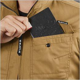 バートル 1716 [春夏用]T/Cライトチノ半袖ジャケット(JIS T8118適合)(男女兼用) レベルブック収納ポケット付き(深さ21cm)