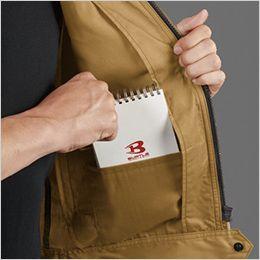 バートル 1716 [春夏用]T/Cライトチノ半袖ジャケット(JIS T8118適合)(男女兼用) 内ポケット付き