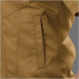 バートル 1716 [春夏用]T/Cライトチノ半袖ジャケット(JIS T8118適合)(男女兼用) ポケット付き