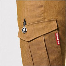 バートル 1802 [秋冬用]交織ストレッチツイルカーゴパンツ(男女兼用) ペンさし