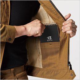バートル 1811 [春夏用]交織ストレッチライトツイルジャケット(男女兼用) 内ポケット
