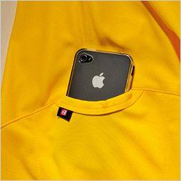 バートル 305 ドライメッシュ半袖ポロシャツ(左袖ポケット付)(男女兼用)  マルチポケット