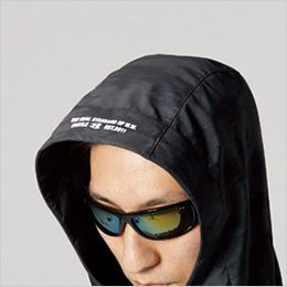 バートル 3190 ストレッチフーデッドジャケット(男女兼用) フードプリント