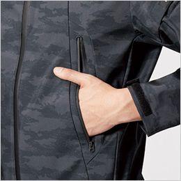 バートル 3190 ストレッチフーデッドジャケット(男女兼用) ダブルジップ仕様